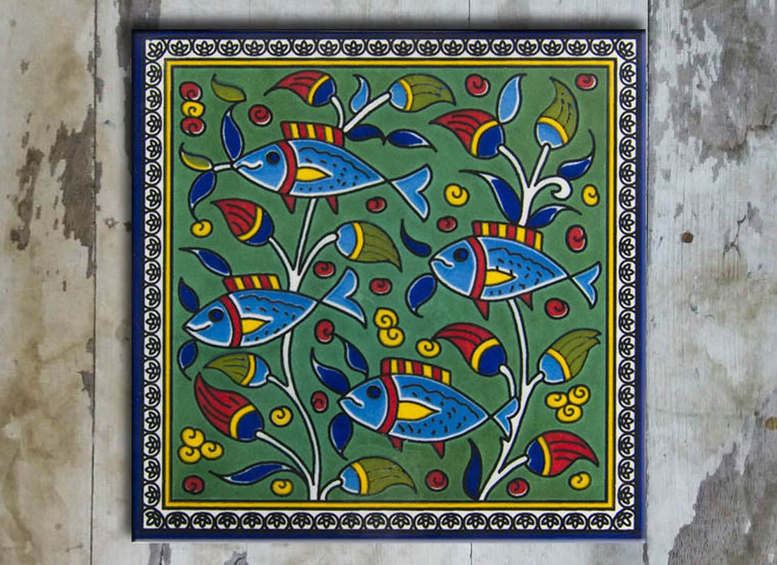 Fish Design Wall Décor Tile