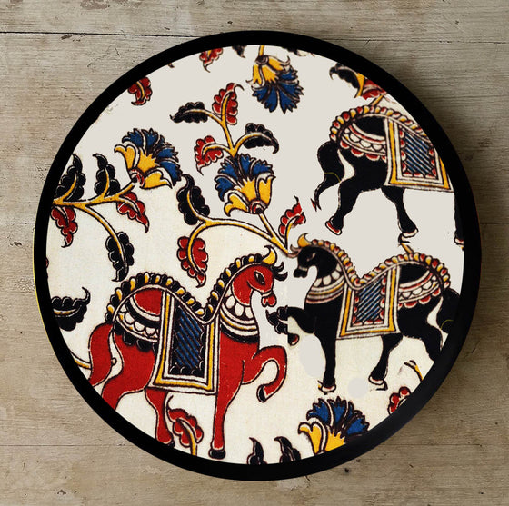 Ancient Kalamkari Art Ceramic Décor Plate