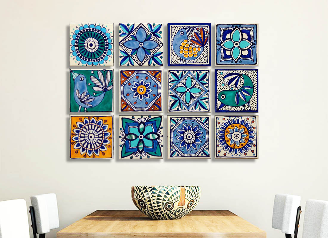Buy Classic Mexican Design Ceramic Tile Set at Lowest Rates On ...