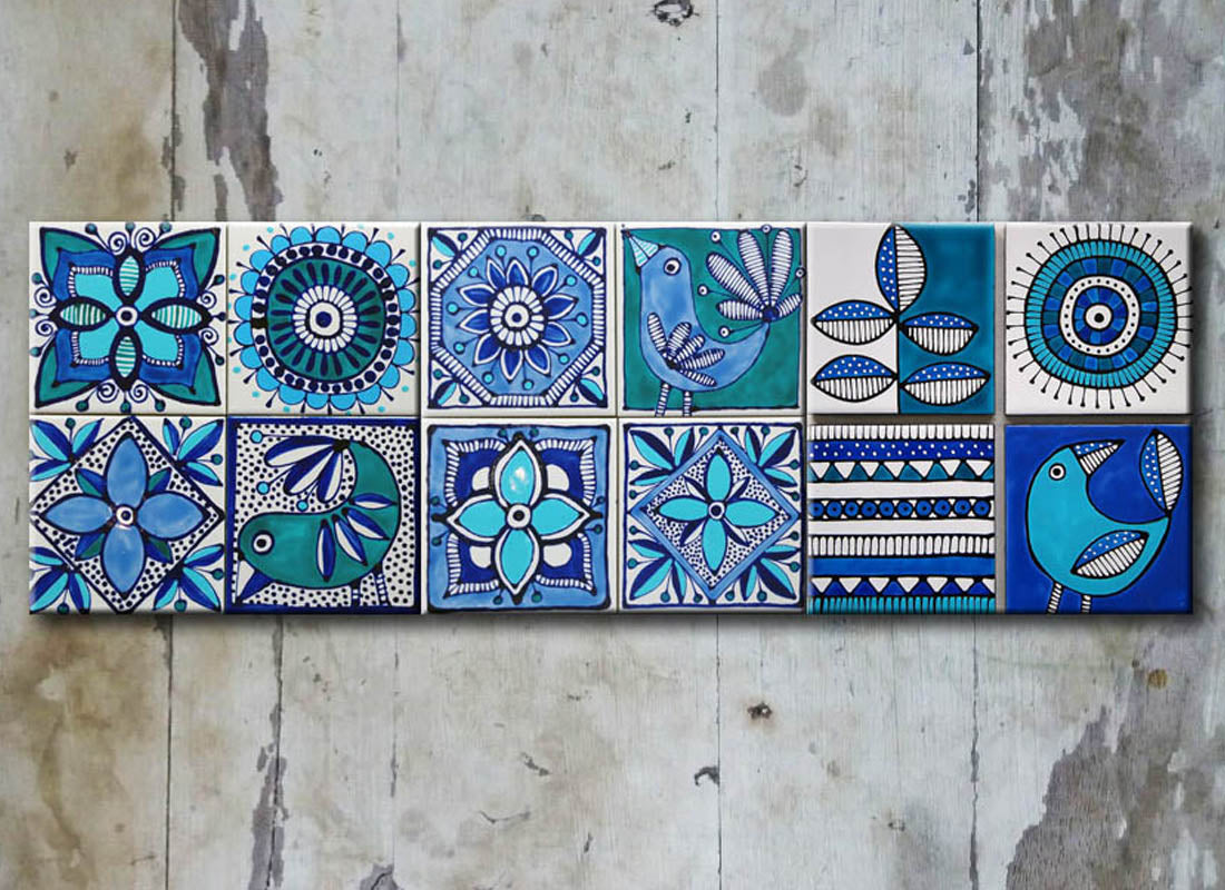 Buy Quirky Design Ceramic Wall Tile Set at Lowest Rates On ...