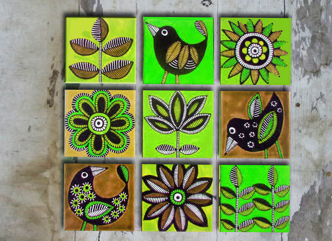 Ceramic Wall Décor Tile Set