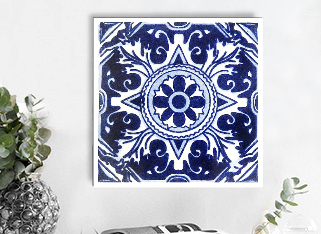 Buy Square Talavera Design Wall Tile at Lowest Rates On Craftedindia.com