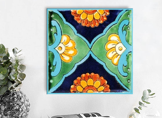Hand-Painted  'Talavera Square Tile'