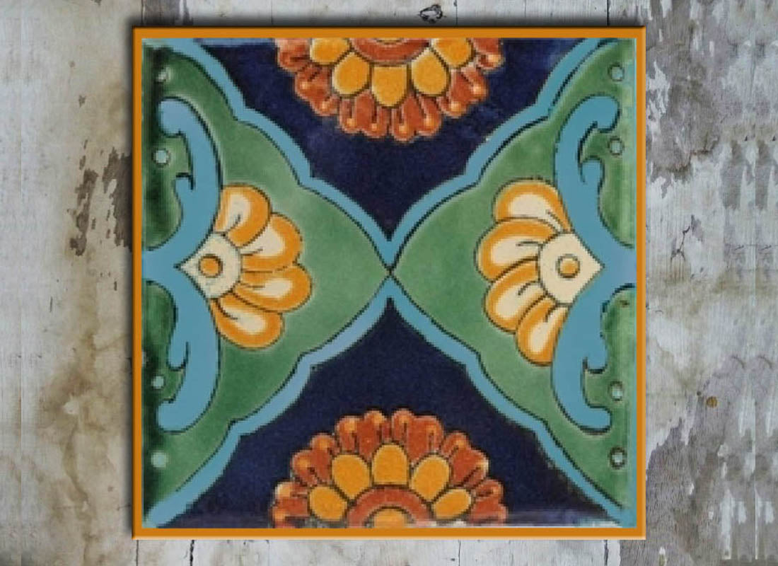 Colourful Talavera Design Wall Tile