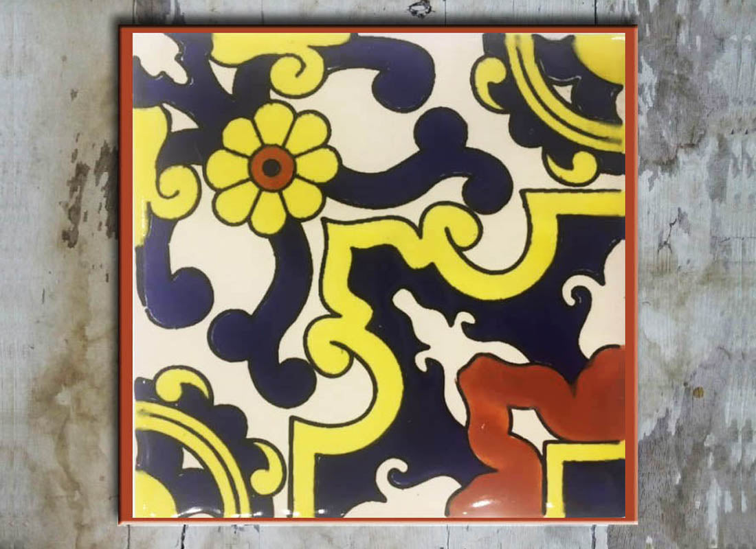 Buy Multicolor Talavera Design Wall Tile at Lowest Rates On ...