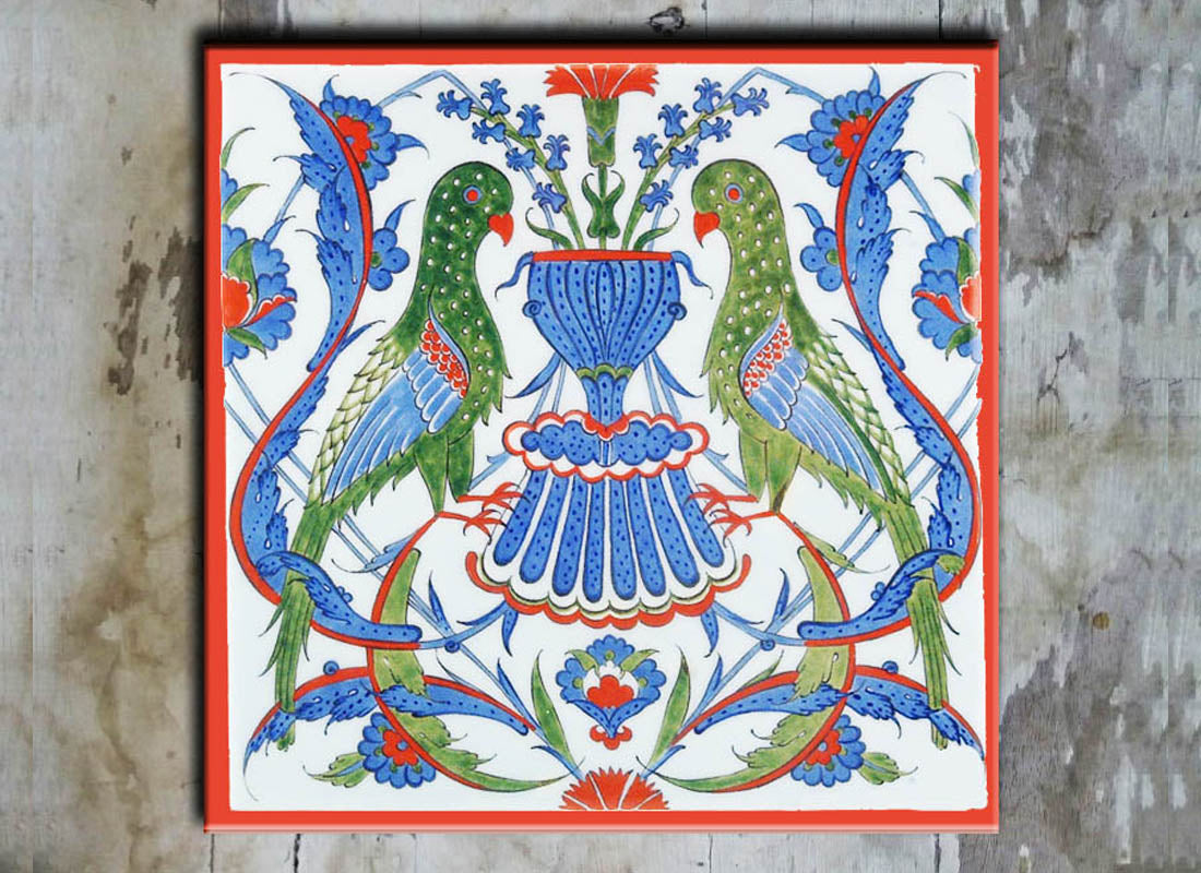 Bird Design Square Ceramic Tile