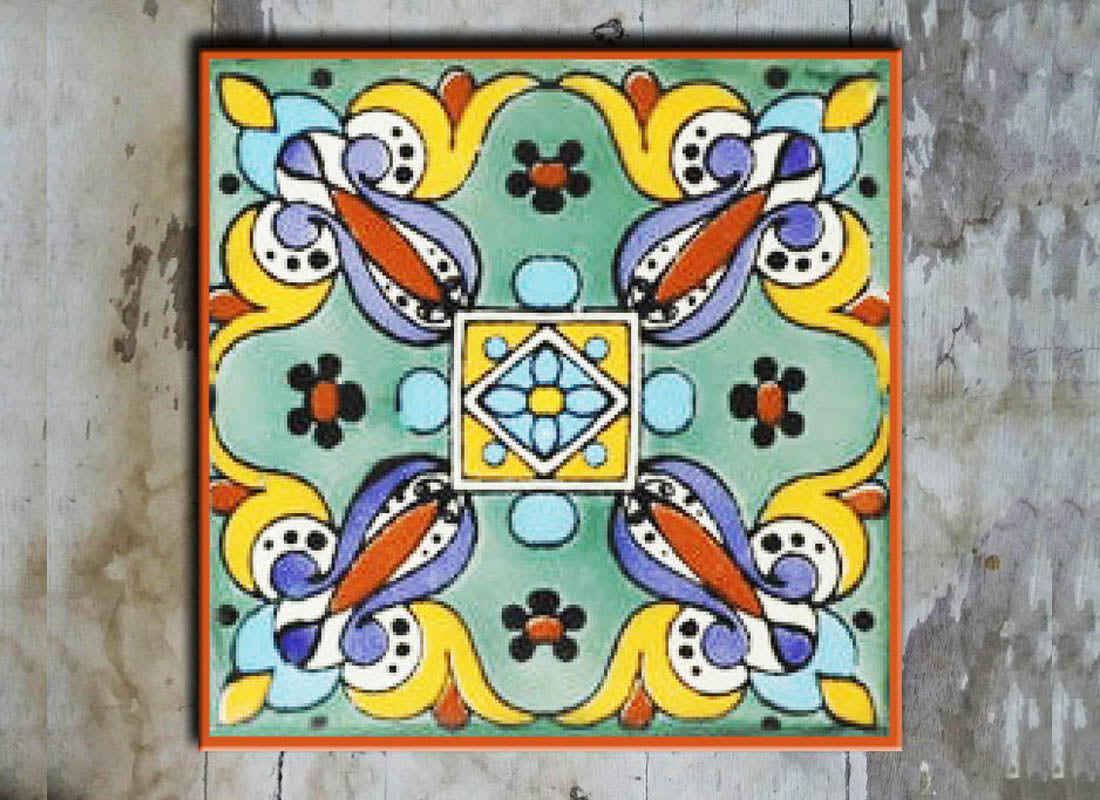Buy Multicolor Talavera Ceramic Wall Tile at Lowest Rates On ...