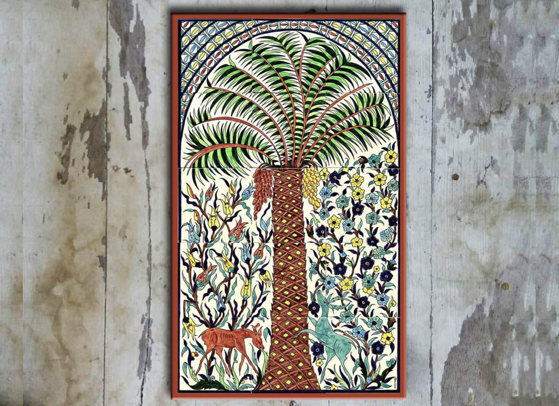 Forest Handpainted on Ceramic Wall Tile Set