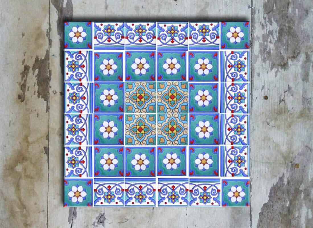 Buy Shade of Blue on Ceramic Wall Tile Set at Lowest Rates On ...