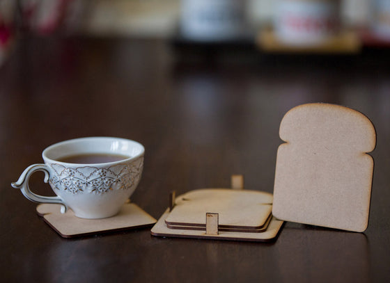 Bread Shaped Set Of 4  Coasters