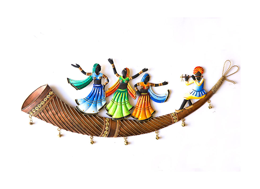 Group Dance On Trumpet Wall Hanging