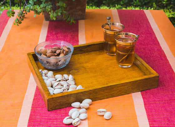 Wooden Bed Side Table Tray