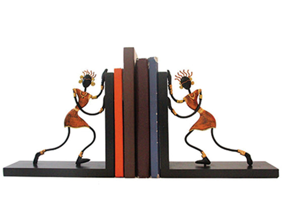 Tribal Women Wooden Bookend
