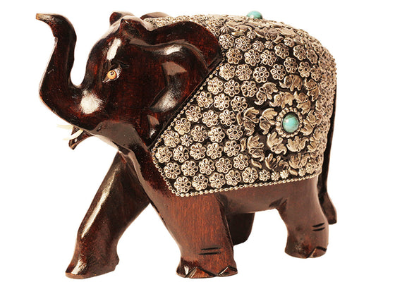 Wooden Elephant Showpiece