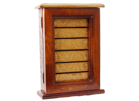 Golden Wooden Key Holder Box