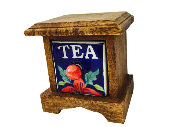 Wooden tea drawer
