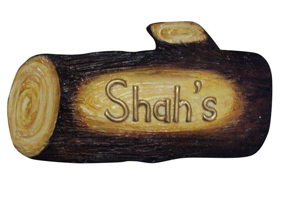 Wooden Log Shape Name Plate for Door