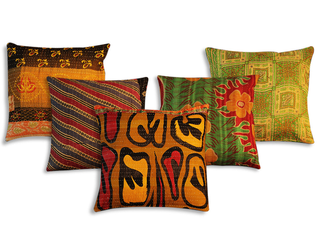 abstract and zigzag designs cushion covers