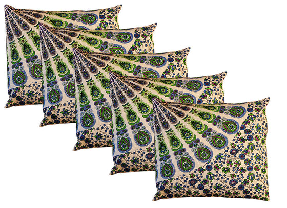 blue Rajasthani cushion covers