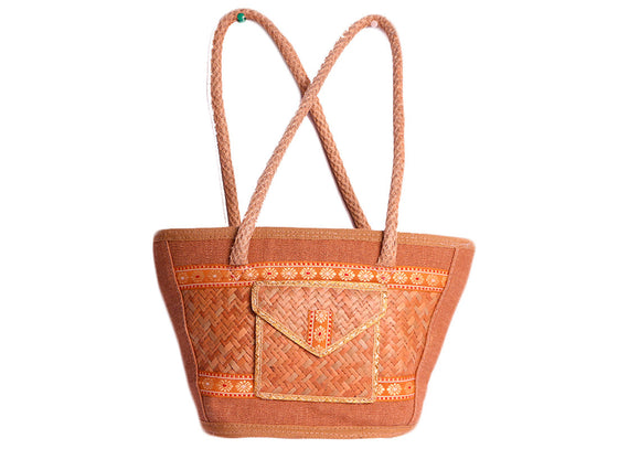 Brown handmade designer bag design