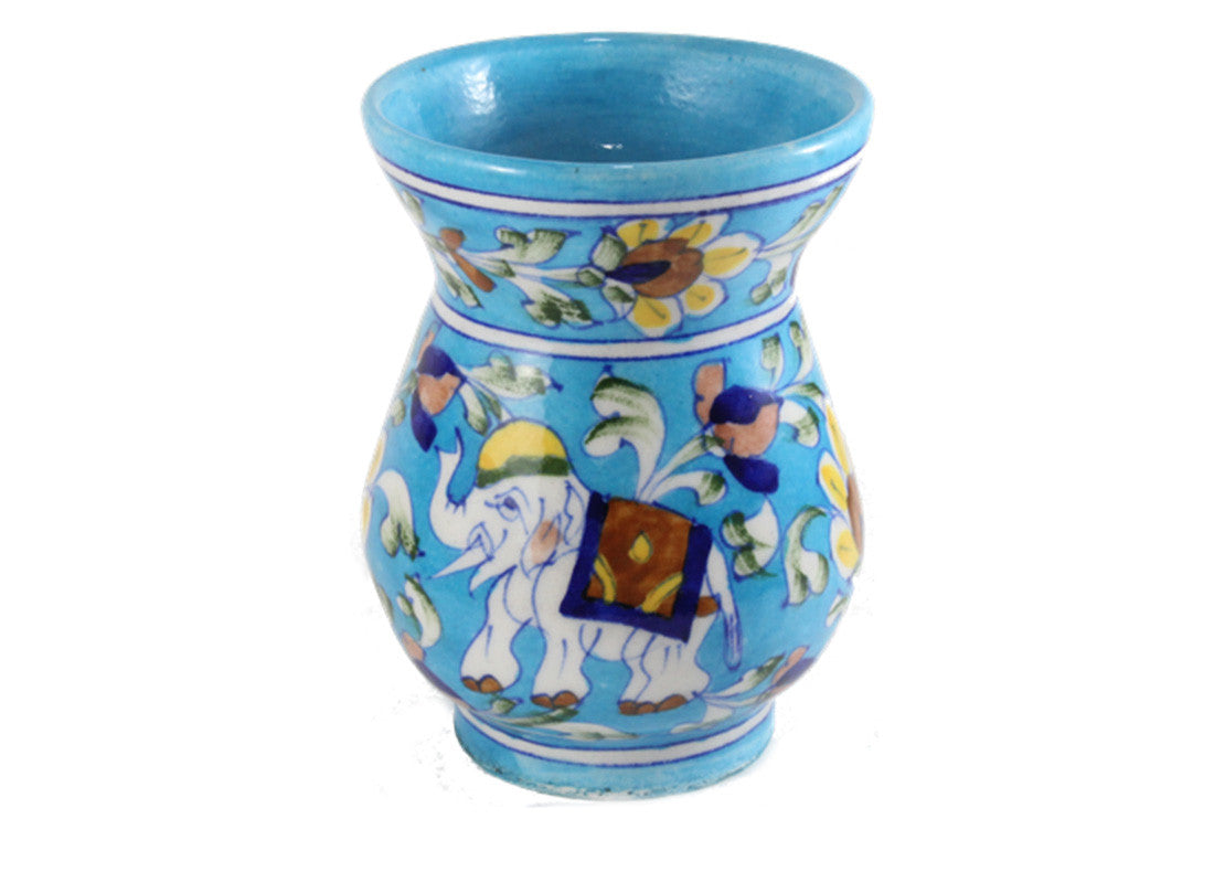 Buy blue pottery online aroma oil burner