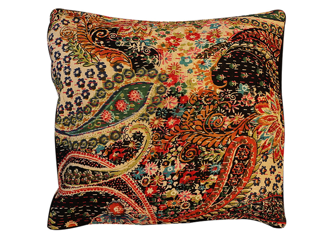 cushion covers black multy