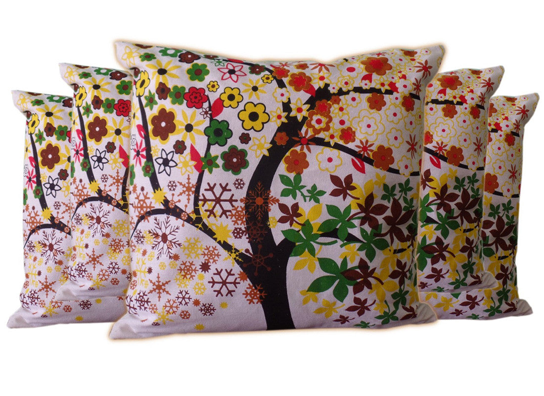 cushion covers with multicolor print