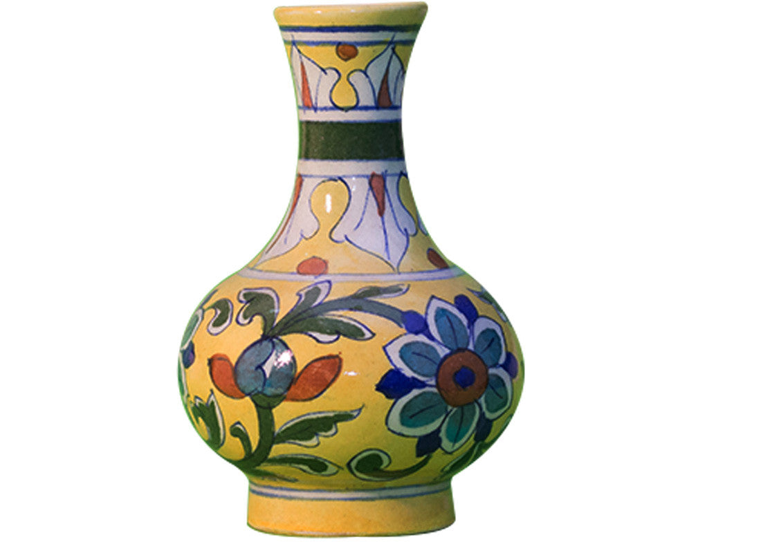 Buy bright yellow decorative vase at lowest rates on craftedindia bright yellow decorative vase bright yellow decorative flower vase decorative flower vase reviewsmspy