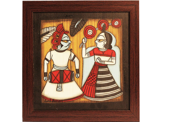 folk dance couple phad painting