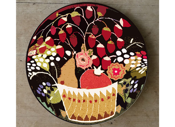 fruit basket design wall plate