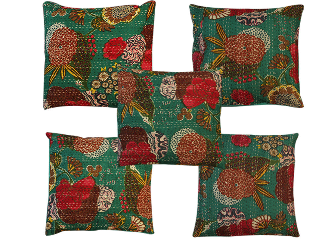 green cushion cover