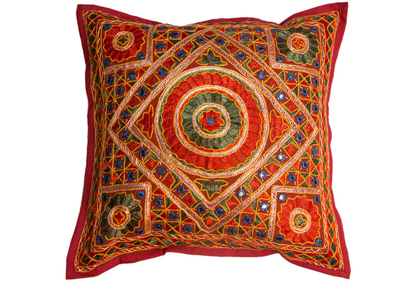 handcrafted embroidery cushion cover