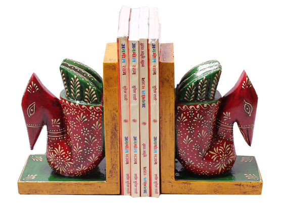 handcrafted swan design bookend