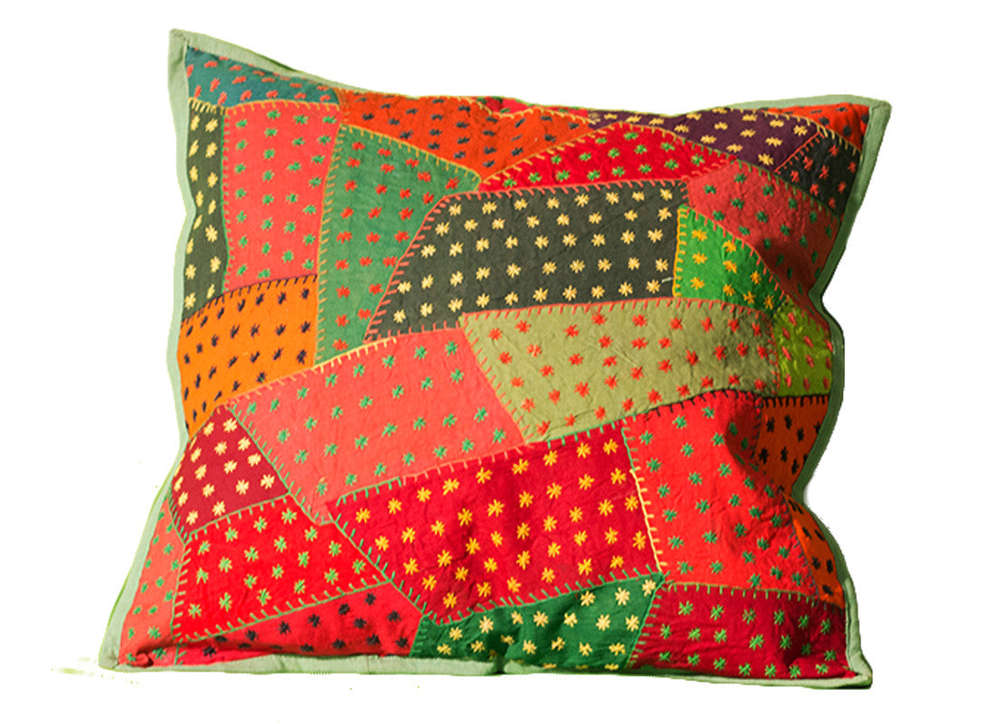 handcrafted using kantha embroidery work
