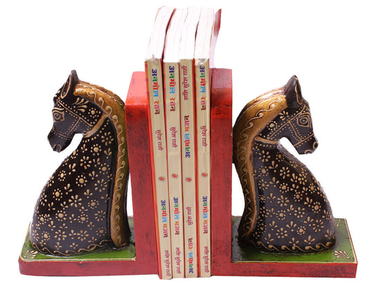 handmade horse design bookend