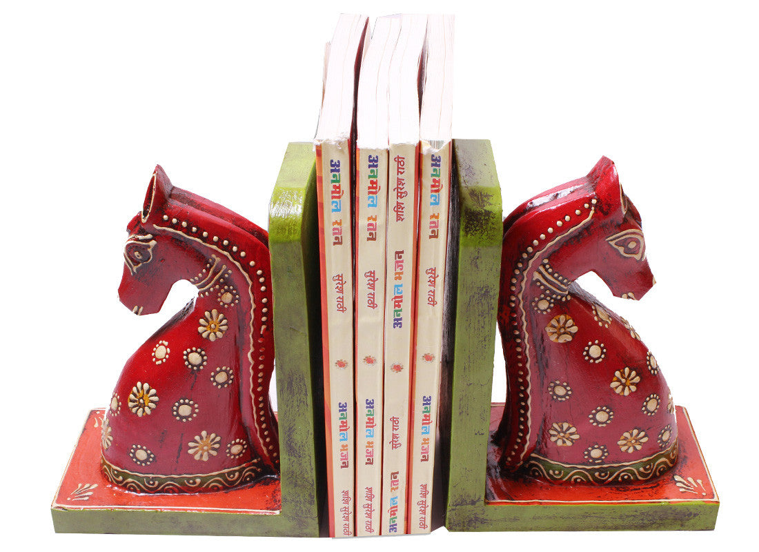 horse design bookend art