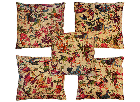 multy coloure printed cushion covars