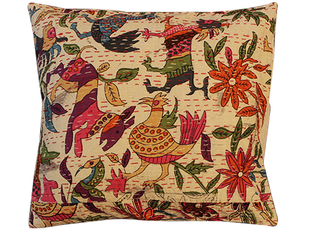 print kantha cushion covers