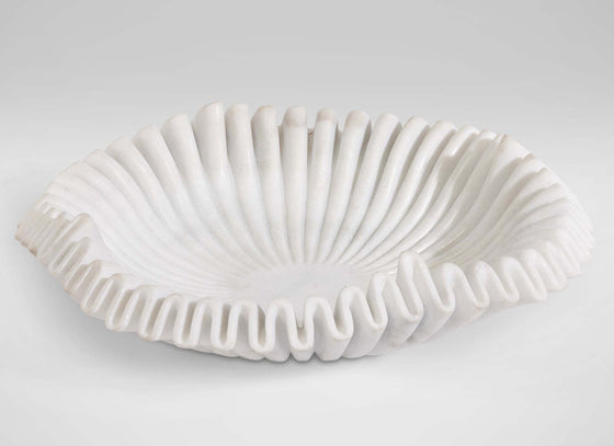 Marble ruffled bowl