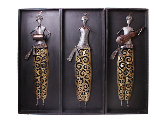 Handcrafted wooden musician set of 3
