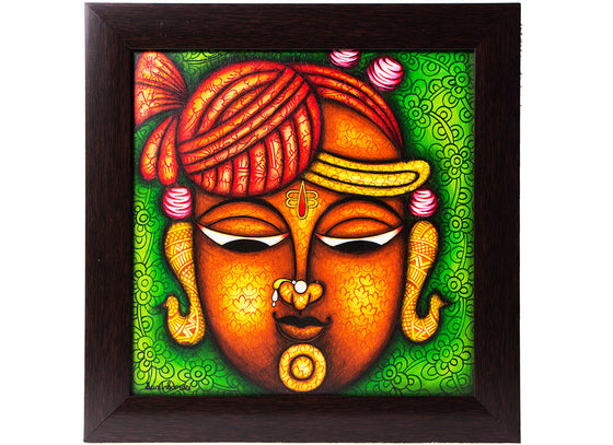 Canvas Shreenathji Phad Wall Painting