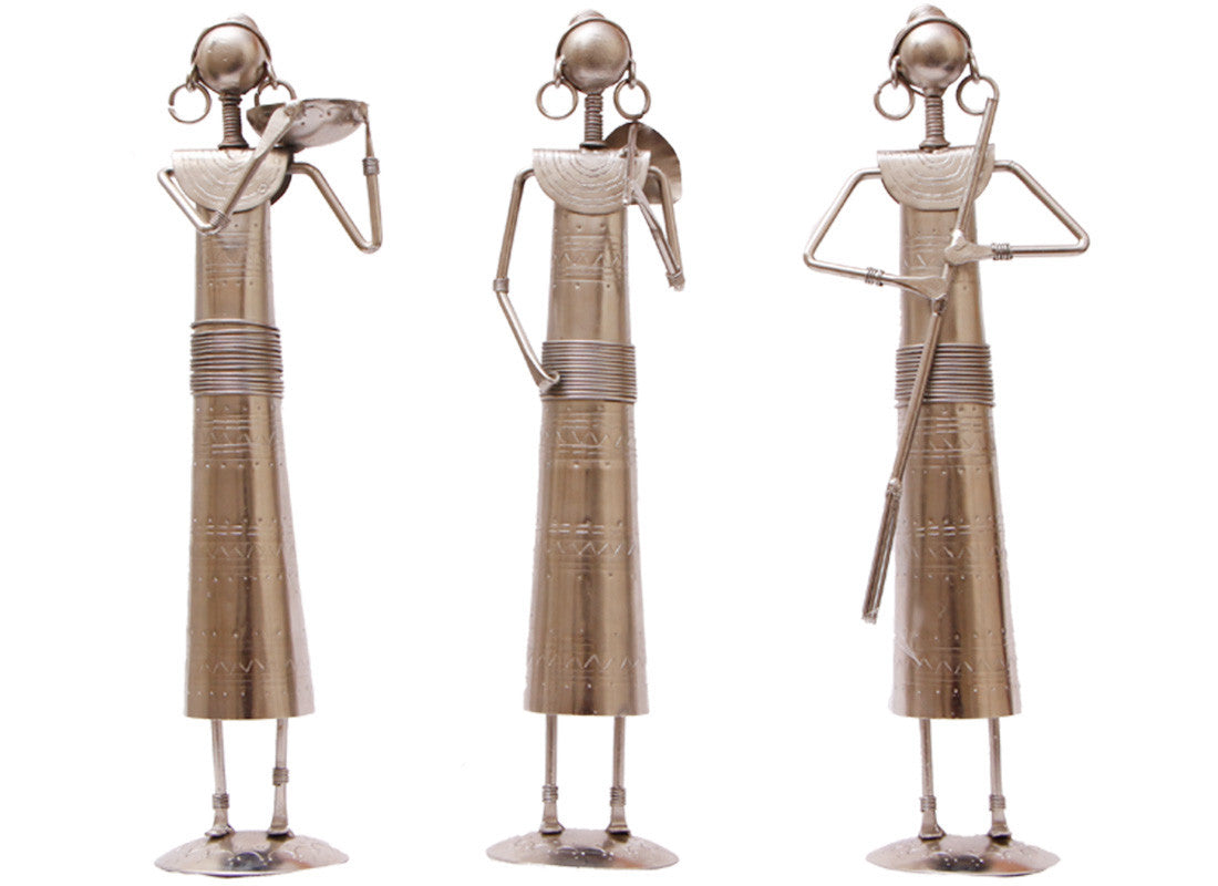 Nickel Metal tribal Figurine Set