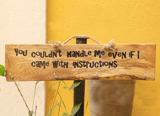 """You Couldn't Handle Me Even If I Came With Instructions""  Multi-purpose Hanger"