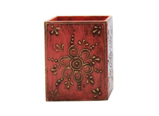 wooden multicoloured stationary box