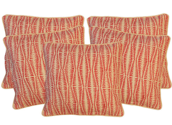 zigzag print pink cushion covers