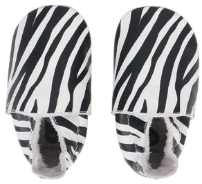 Soft Sole White Zebra