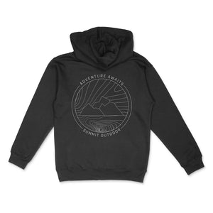 Summit Outdoor Ridgeline Hoodie - Black- Back View