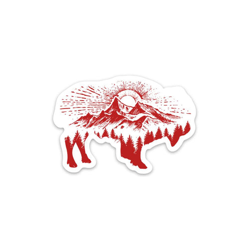 Mountain Bison Sticker - Summit Outdoor Co.