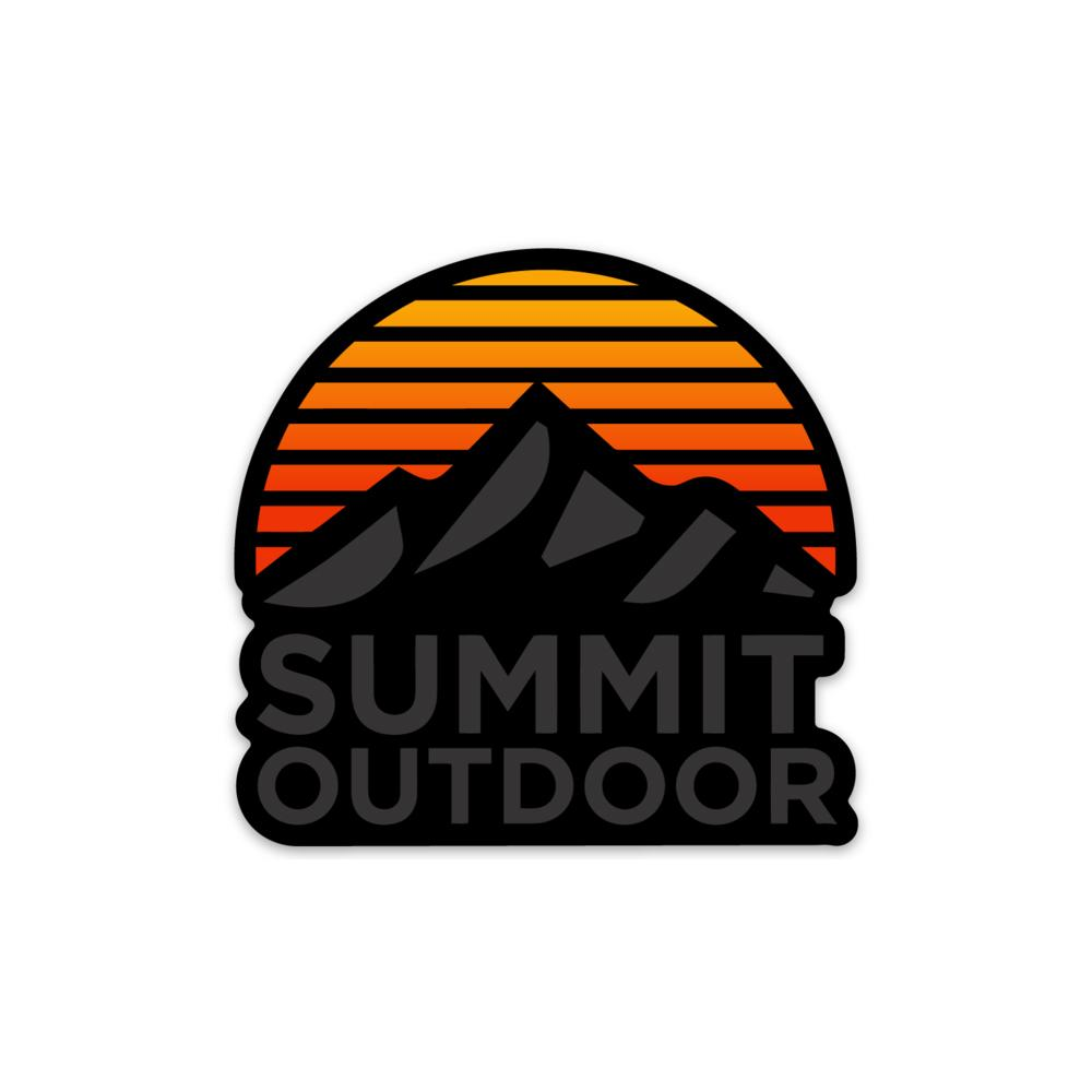 Summit Dark Sunrise Sticker - Summit Outdoor Co.
