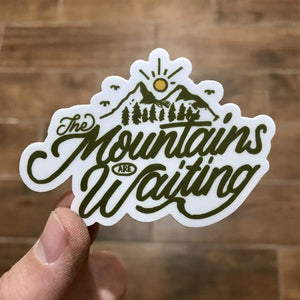 The Mountains Are Waiting Sticker - Summit Outdoor Co.